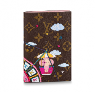 Louis Vuitton Passport Cover in Luxury Monogram Canvas for Christmas