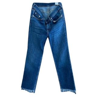 Rag & Bone Distressed Hem Jeans
