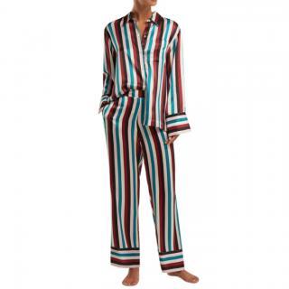 Asceno Striped silk pyjama trousers