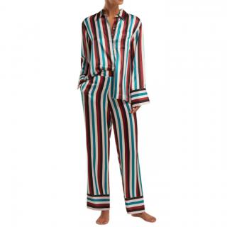 Asceno Striped silk pyjama trousers