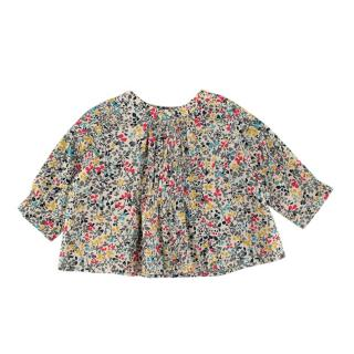 Bonpoint Floral Print Cotton Ruffled Top