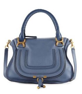 Chloe Marcie Medium Blue Shoulder Bag