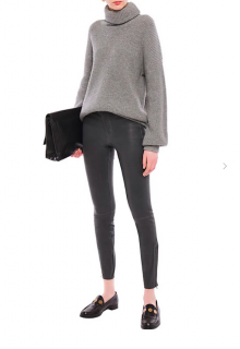 J Brand Grey L8001 Skinny Leather pants