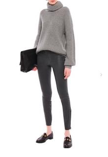 J Brand Grey L8001 Skinny Leather pants