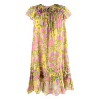 Marc Jacobs Multi-coloured Floral Pattern Dress