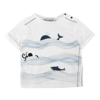 Tartine et Chocolat White Cotton Maritime Motif T-shirt