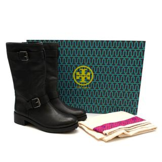 Tory Burch Black 'Chrystie' Boots