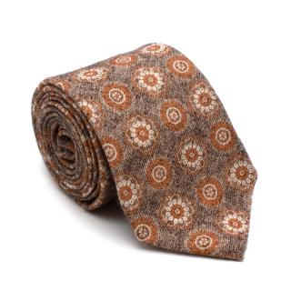Rosi & Ghezzi Brown And Orange Floral Pattern Tie