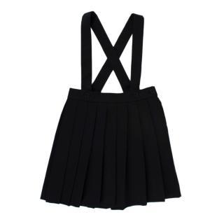 Bonpoint Black Pleated Pinafore Skirt