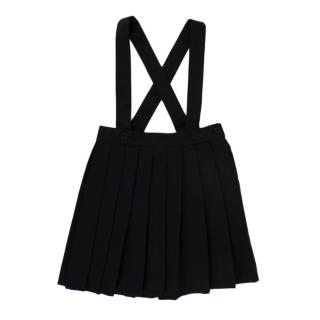 Bonpoint Black Pleated Pinafore Skirt