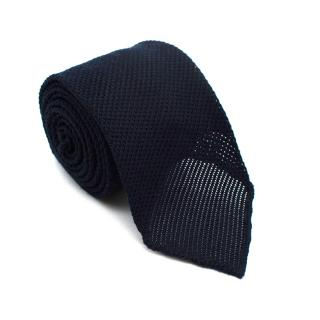 Emma Willis Navy Blue Knit Textured Tie