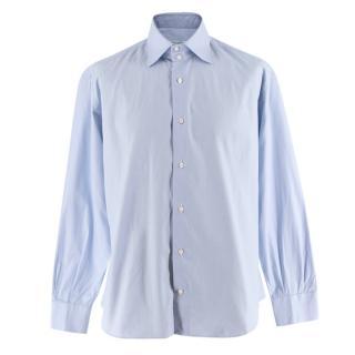 Simone Abbarchi Firenze Blue Pin Striped Shirt