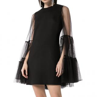 Giambattista Valli Tulle Cape Mini Dress