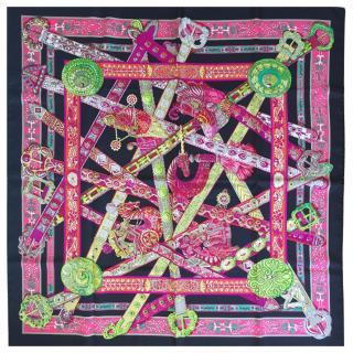Hermes Le Songe de la Licorne Silk Scarf 90