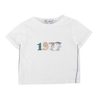 Tartine Et Chocolat White '1977' Print T-Shirt