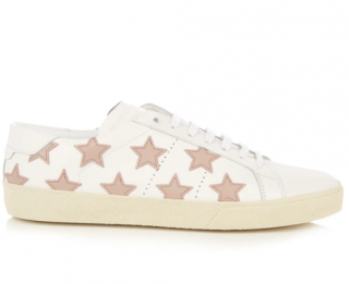 Saint Laurent Court Classic star-appliqu� leather trainers