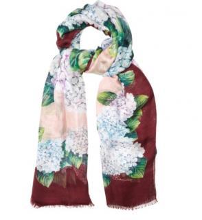 Dolce & Gabbana Hydrangea Print Wrap Scarf