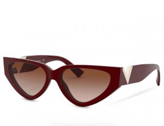 Valentino Burgundy Cat-Eye Sunglasses