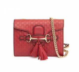 Gucci Red Guccissima Emily Crossbody Bag