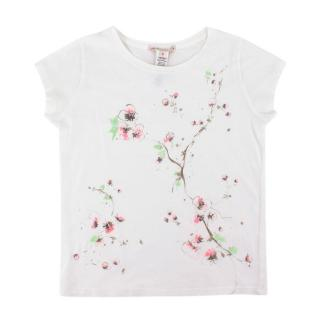 Bonpoint White Floral Print T-Shirt