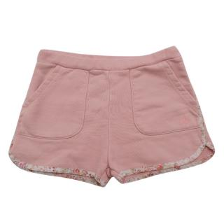 Bonpoint Pink Shorts With Floral Trim