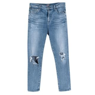 Citizens Of Humanity Blue Distressed Denim Jeans