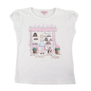 Confiture White Cake Shop Print T-Shirt
