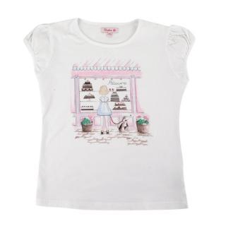 Confiture White Cake Shop Print T-Shirt