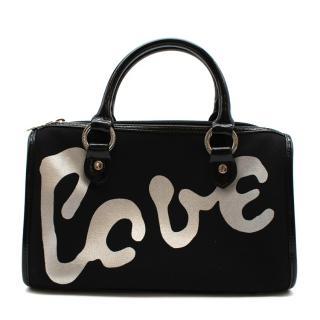 Lulu Guinness Black 'Love' Handbag