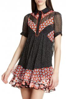 DVF Lou Silk-chiffon Collared Mini Dress