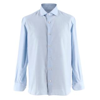 D'avino Napoli Blue Textured Shirt