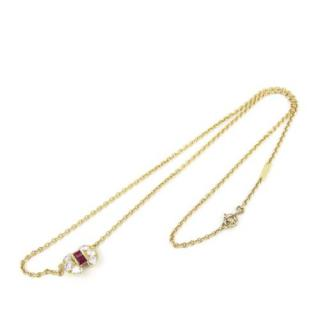 Van Cleef and Arpel Rub & Diamond Celestine Necklace