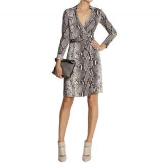 DVF Jeanne Python Print Jeanne Two Wrap Dress