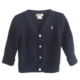 Ralph Lauren Blue Cable Knit Cardigan