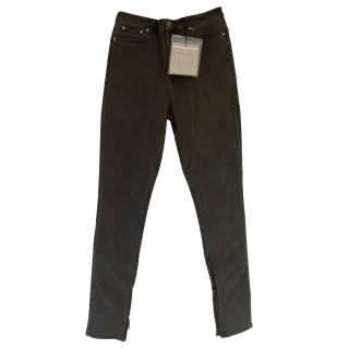 BLK DNM Charcoal Distressed Jean 8