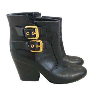 Giuseppe Zanotti Black Buckle Detail Ankle Boots