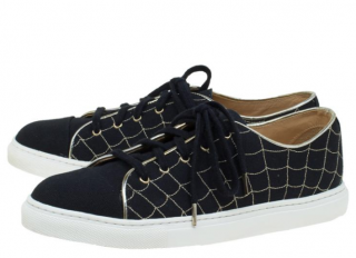 Charlotte Olympia Black Canvas Web Sneakers