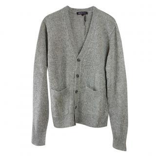 Michael Kors Grey Linen Knit Cardigan