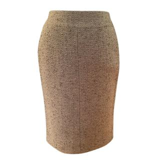 Chanel Beige Classic Tweed Pencil Skirt
