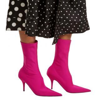 Balenciaga Pink Jersey Knife Booties