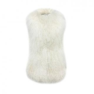 Burberry Prorsum Cream Curly Shearling Gilet