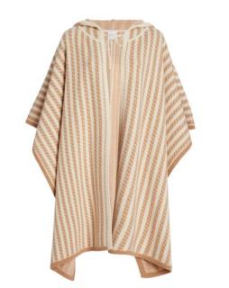 Madeleine Thompson Striped Wool-Blend Poncho