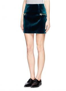 Sandro Velvet Janet Mini Skirt