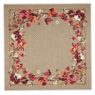 Gucci Blooms Monogram Virgin Wool Shawl
