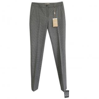 Michael Kors Collection Wool Blend Gingham Pants