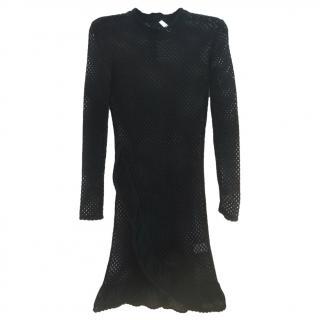 Iro Crochet Ruffle Trimmed Mini Dress