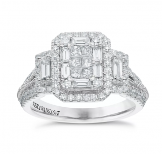 REDUCED PRICE !! Vera Wang Love Collection White Gold Diamond Engagement Ring