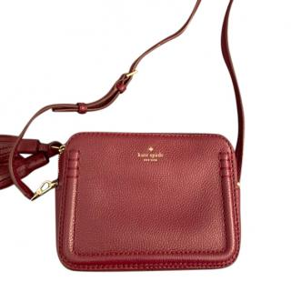 Kate Spade Red Grained Leather Crossbody bag
