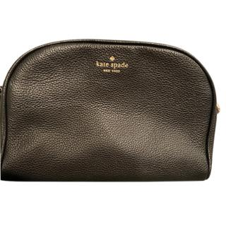 Kate Spade Black Grained Leather Crossbody Bag