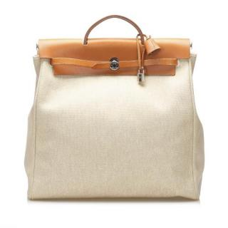 Hermes Canvas & Leather Herbag GM Shoulder Bag